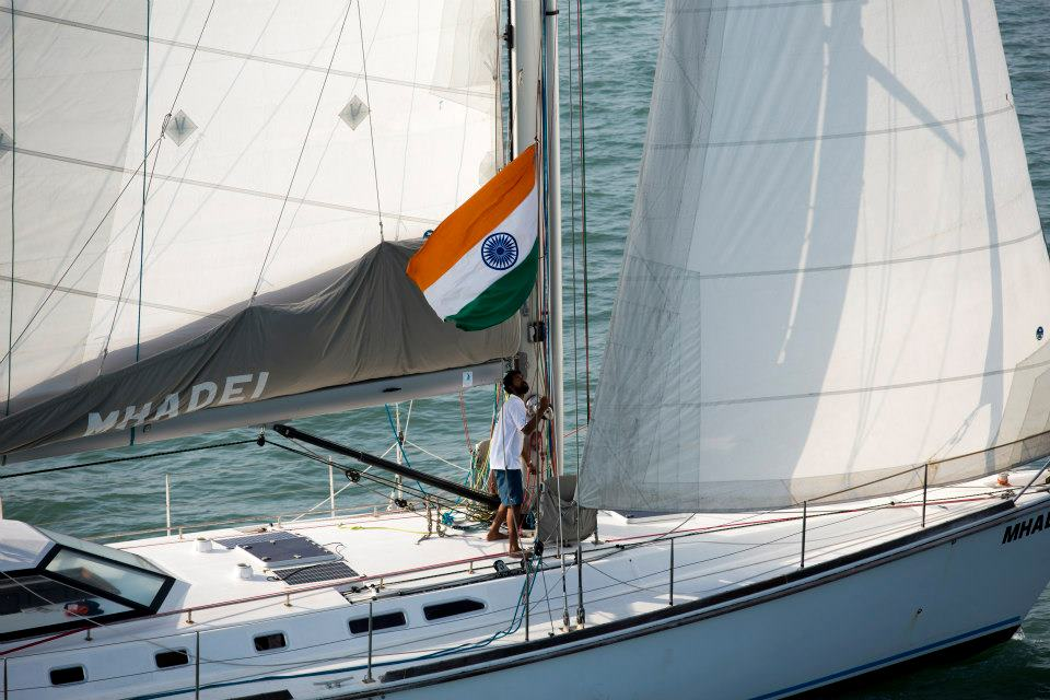 Lt.Cdr Abhilash Tomy returns after a 150 days non-stop voyage around the world