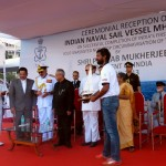 Abhilash Tomy awarded by President of India Pranab Mukherjee
