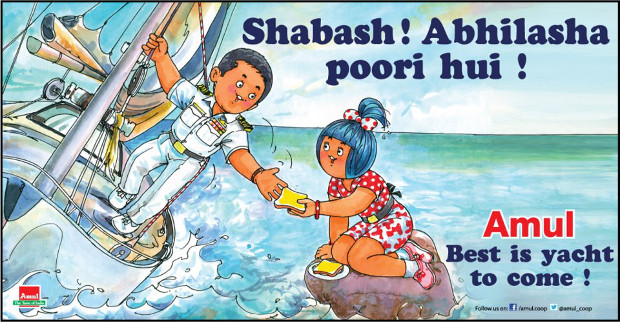 Amul welcomes Abhilash Tomy on sailing around the world