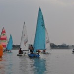 Sailing boats at Hussain Sagar lake