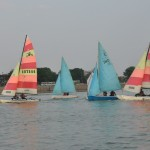 Sailing boats in a lake