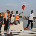 Sailing flag off at Hussain sagar Lake