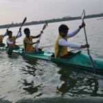 Rowing at Hussain Sagar lake